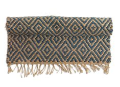 Add warmth and real style with this eye-catching runner. Perfect for hallways, strong and very durable. Hand-woven from jute on traditional looms using age-old techniques. A hand-woven, eco-friendly and fair trade product. Jute Rug, Real Style, Soft Furnishings, Timeless Design, Wool Rug, Hand Weaving, Blanket, Rugs, Blue