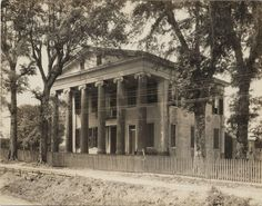 Two story Greek revival with Ionic columns. Old Southern Plantations, Southern Plantation Homes, Louisiana Plantations, Southern Mansions, Southern Homes, Plantation Houses, Louisiana Homes, Southern Belle, Southern Architecture