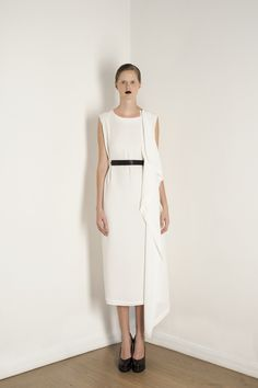 Asymmetric White Waterfall Dress | Lake |