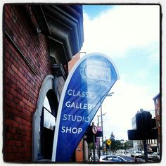 Our shop sign Us Shop, Craft Sale, Shop Signs, Golf Bags, Studio, Gallery, Shopping, Roof Rack, Studios