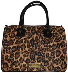 """top handle bags: Betsey Johnson Women's Large """"Be Mine"""" Satchel Handbag, Puffy Natural (Leopard Print) Betsey Johnson Bags, Satchel Handbags, Louis Vuitton Speedy Bag, Fashion Tips, Fashion Design, Fashion Trends, Black And Brown, Tote Bag, Things To Sell"""