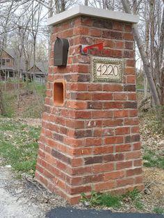 pretty bricked up mailbox