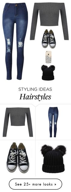"""Untitled #3116"" by twerkinonmaz on Polyvore featuring WithChic and Converse"