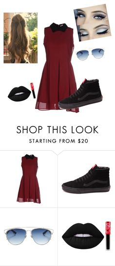 """""""outfits 38"""" by estefeni-argueta ❤ liked on Polyvore featuring Anonyme Designers, Vans, Christian Dior and Lime Crime"""