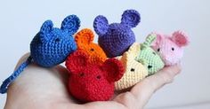 """Since my shop is called """"Pink Mouse Boutique,"""" I had to create a mouse pattern too. :-) You can use any color thread or yarn. Thes..."""