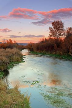 Provo River Sunset, Utah  this is the prettiest that Provo River has ever been