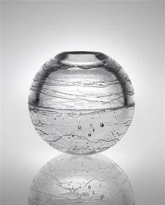 Timo Sarpaneva, Mould-Blown and Cast Glass Vase from the Archipelago Series… Hacks, Clear Vases, Large Vases, Big Vases, Vase Deco, Black Vase, White Vases, Vase Design, Cast Glass
