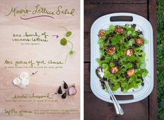 Miner's lettuce salad by Erin Gleeson from The Forest Feast