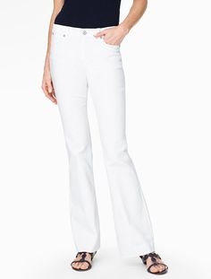 The Flawless Five-Pocket Flare-Leg Jean - White - Talbots