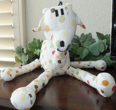 BABYSTYLE Polka Dot Cloth GIRAFFE Stuffed Plush Animal Toy Baby Style