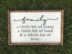 A personal favorite from my Etsy shop https://www.etsy.com/listing/560273369/family-wooden-sign-rustic-farmhouse
