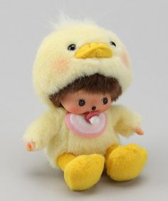 Take a look at this Yellow Chick Bebichhichi Plush Toy by Monchhichi on #zulily today!