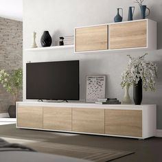 Living Room Wall Units, Living Room Tv Unit Designs, Home Living Room, Living Room Decor, Tv Unit Furniture, Living Room Furniture, Home Furniture, Muebles Living, Living Room Inspiration