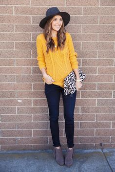 Mustard Sweater Outfit, Mustard Yellow Outfit, Mustard Yellow Sweater, Sweater Outfits, Yellow Jumper Outfit, Sweater Fashion, Mustard Top, Fringe Sweater, Sweater Boots