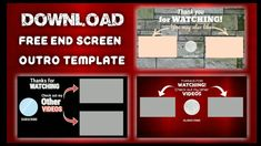 FREE Endscreen Outro Template | Boz Phil - YouTube You Videos, Thankful, Templates, Watch, Youtube, Free, Stencils, Clock, Bracelet Watch