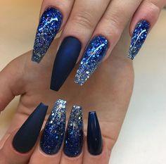 Royal Blue And Gold Nails Nailpro Nails Pinterest Gold Nail