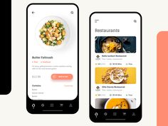 Restaurant Mobile Application UI designed by Ali Sayed for UnoPie. Connect with them on Dribbble; Mobile App Ui, Mobile App Design, Ux Design, Flat Design, Icon Design, Layout Design, Design Ideas, Apps, Mobile Application Design
