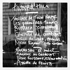 French menu handwritten style.