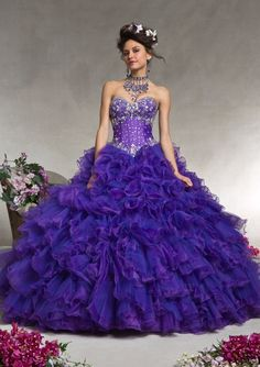 Quinceanera Dress From Vizcaya By Mori Lee Dress Style 88067 Organza with Beading