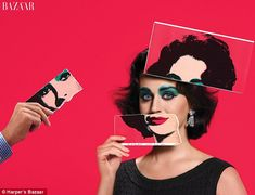 Pop art: Katy Perry stars as Elizabeth Taylor in a quirky, Andy Warhol inspired image taken by legendary photographer Jean-Paul Goude for the September issue of Harper's Bazaar