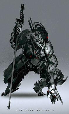 (Y/N) is the last samurai of an elder village, after the sudden destr… Fantasy Character Design, Character Concept, Character Art, Arte Ninja, Arte Robot, Robot Concept Art, Armor Concept, Cyberpunk Kunst, Futuristic Armour