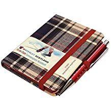 Dress Tartan Notebook Mini With Pen 10 5 X 7 5cm Scottish Traditions Waverley Genuine Tartan Cloth Commonplace Notebook Waver Tartan Dress Notebook Tartan
