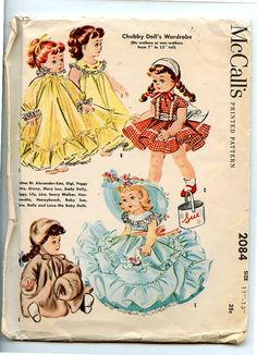 McCall's 2084 Vintage 1950s 11-13 in. Doll by VioletCrownEmporium