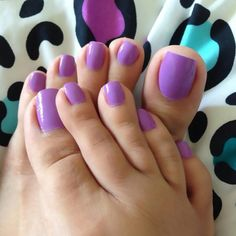 A collection of the best female feet pictures I found. just gorgeous feet. Purple Pedicure, Purple Toe Nails, Purple Toes, Pretty Toe Nails, Cute Toe Nails, Cute Toes, Manicure E Pedicure, Pretty Toes, Acrylic Toes