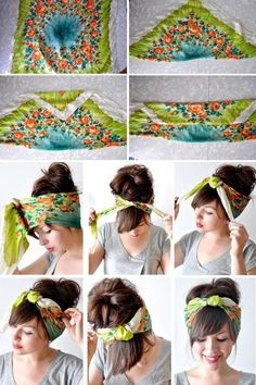 Love this idea for scarf wearing days