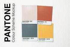 Pantone Colour Scheme Mockup by New Tropical Design on @creativemarket