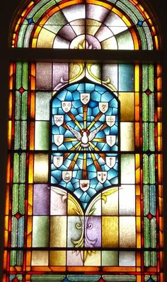 Stained Glass Windows at First Baptist Church in Auburn, AL