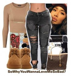 A fashion look from january 2017 by thailyn-nicole featuring zoã« chicco an Chill Outfits, Swag Outfits, Dope Outfits, Urban Outfits, Trendy Outfits, Summer Outfits, Teen Fashion, Fashion Outfits, Fashion Trends
