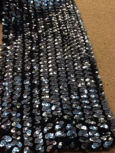 Sequin stretch fabric sequins fabric charcoal by Threads2Trends
