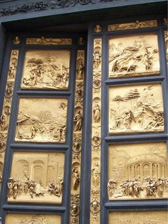 Gates of Paradise...detail of Ghiberti's bronze doors of the Florence Baptistery.