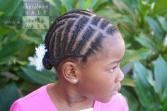 Protective Cornrows into Back Tucked Braids #NaturalHair #Hairstyle | Chocolate Hair / Vanilla Care