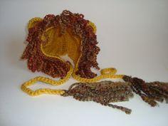 Handmade Crochet Lion Hat Bonnet HalloweenBaby by SuperCrochetMom
