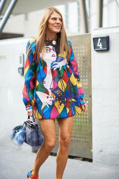 Street style: Anna Dello Russo