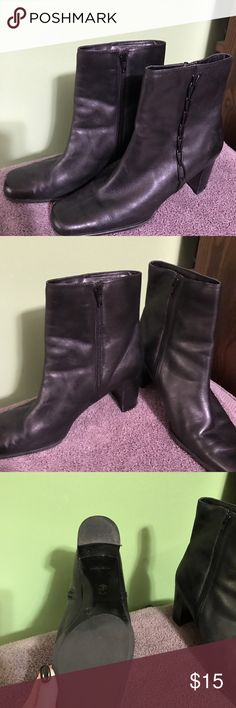 St. John's Bay Leather Booties This is a pair of St Johns bay Black Booties. They are a size 10 and in excellent condition. st johns bay Shoes Ankle Boots & Booties