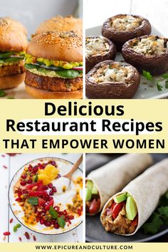 These delicious restaurant recipes from female chefs empower women while also giving back to charity. Here's how! // #Recipes #FemaleChefs #Cooking #Recipe #Food Delicious Restaurant, Restaurant Recipes, Delicious Recipes, Vegan Recipes, Yummy Food, Vegan Looks, Roasted Cherry Tomatoes, Responsible Travel, Plant Based Eating