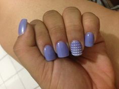 Blue/lilac short nails