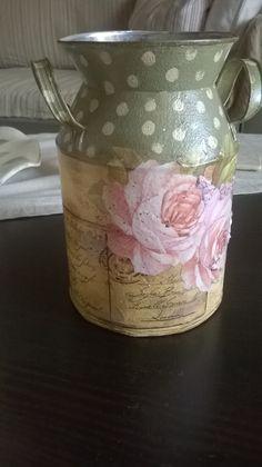 ifka decoupage rose can handmade