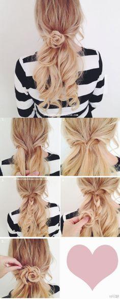 【编发教程】简单美丽 一天一个发型 每天都要美美哒 ୧(๑•̀⌄•́๑)૭ 长发 小清新盘发 森女系 发型