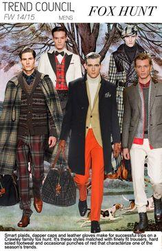 F/W 2014-15, menswear trend themes, fox hunt
