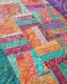 A beautiful Batik quilt made by Jenny on our Mystery Madness Night 2016! We have our next Mystery Madness Night on the 21st of January! See website for details to book now! www.jemimascreativequilting.com/…/a816c4f6-934c-707f-a230-9… #quilt #quilting #quilted #longarmquilting #jemimascreativequilting #patchwork #batik #batikfabric #machinequilting