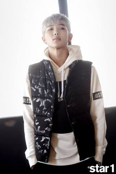 [Picture/FB] Rap Monster at star1 Magazine Photoshoot Behind The Scene (October Issue) [150912]
