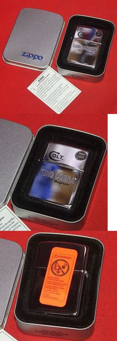 Advertisements 71132: Colt Firearms Factory King Cobra Zippo Lighter Mint In Tin BUY IT NOW ONLY: $64.99