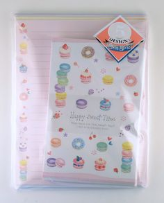 janetstore.com: kawaii stationery,letter sets, stickers, gifts and more - Kamio Happy Sweet Times letter set 4991277031049