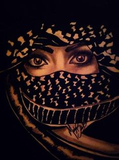 Palestine - Its The Eyes Which Hold The Secrets. Palestine Art, Pride Tattoo, The Beautiful Country, Beautiful Hijab, Pretty Eyes, Cute Illustration, Artsy, Drawings, Makeup