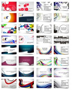Free vector business card templates eps file icons logos tarjetas reheart Gallery