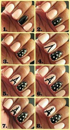 Chic Nail Tutorials for the Week Eiffel tower nails Chic Nails, Love Nails, Fun Nails, Pretty Nails, Cute Nail Art, Nail Art Diy, Eiffel Tower Nails, Uñas Diy, Paris Nails